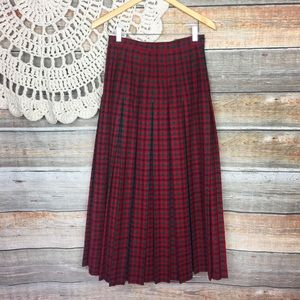 Berek | Vintage Holiday Tartan Plaid Maxi Skirt